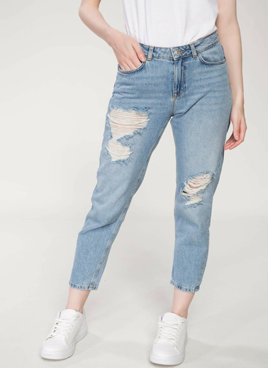 DeFacto Julie Boyfriend Denim Pantolon Mavi